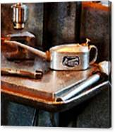 Oil Can And Wrench Canvas Print