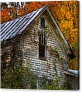 Old Abandoned House In Fall Canvas Print