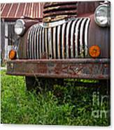 Old Abandoned Pickup Truck Canvas Print