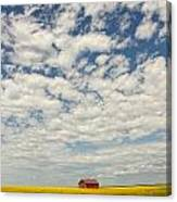 Old Abandoned Red Barn In The Midst Canvas Print
