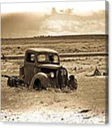 Old Abanoded Truck Fade Canvas Print