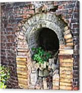 Old Antique Brick Kiln Fire Box Canvas Print