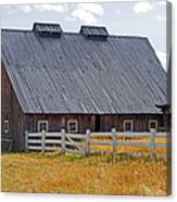 Old Barn And Fence Canvas Print