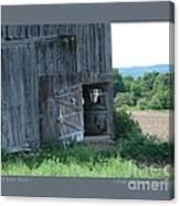 Old Barn Door-i Canvas Print