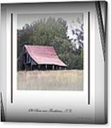 Old Barn - Edge Of The Field Canvas Print