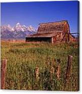 Old Barn, Grand Teton National Park Canvas Print