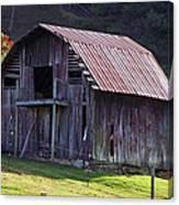 Old Barn In Etowah Canvas Print