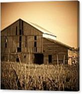 Old Barn In Indiana Canvas Print