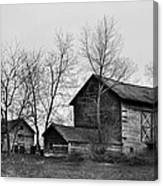 Old Barn In Monochrome Canvas Print