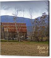 Old Barn In Southern Oregon With Text Canvas Print
