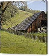 Old Barn On Highway 20 Canvas Print