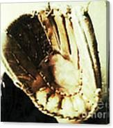 Old Baseball Glove Canvas Print