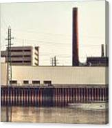 Old Bergstom Smokestack Canvas Print