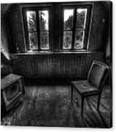 Old Black And White Tv Canvas Print