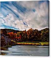 Old Bridge In The Fall Canvas Print
