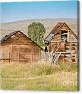 Old Building Woodruff Utah Canvas Print