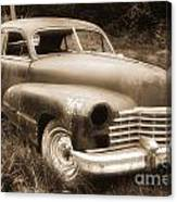 Old Caddy-sepia Canvas Print