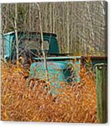 Old Chevy In The Field Canvas Print