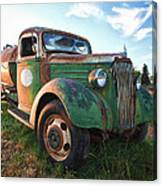 Old Chevy Tanker Truck Canvas Print