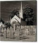 Old Church Yard Canvas Print