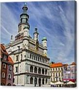Old City Hall Clock Tower - Posnan Poland Canvas Print