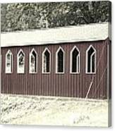 Old Color Covered Bridge Canvas Print