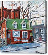 Old Corner Store Montreal By Prankearts Canvas Print