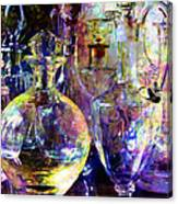 Old Decanters Canvas Print