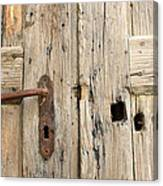 Old Door In Sebastia Canvas Print