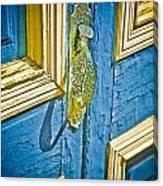 Old Door New Paint Canvas Print