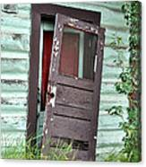 Old Door On Rustic Alaska Cabin Canvas Print