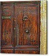 Old Door Study Provence France Canvas Print