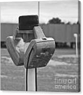 Old Drive-in Bw Canvas Print