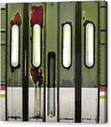 Old El Train Doors Canvas Print