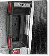 Old Empty Phone Booth Canvas Print