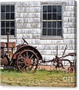 Old Farm Equipment Canvas Print