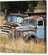 Old Farm Trucks Canvas Print