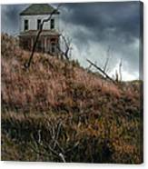 Old Farmhouse With Stormy Sky Canvas Print