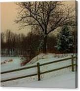 Old Fashiion Winter Canvas Print