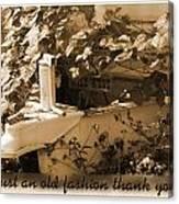 Old Fashion Thank You Card Canvas Print