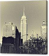 Old-fashioned Empire State Building Canvas Print
