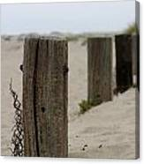 Old Fence Poles Canvas Print