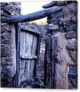 Old Finca Ancient Hause In The Spanish  Mountains Canvas Print