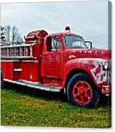 Old Firetruck Canvas Print