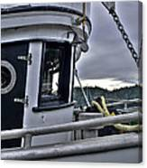 Old Fishing Boat Cabin Canvas Print