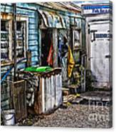 Old Fishing Store At Rawehe Canvas Print