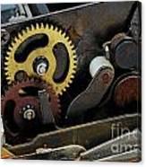 Old Gears Mechanism Canvas Print