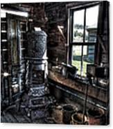 Old Ghost Town Stove - Molson Washington Canvas Print