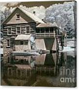 Old Grist Mill In Infrared Canvas Print