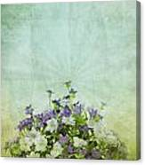 Old Grunge Paper Flowers Pattern Canvas Print